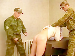 Young rusian spanked...