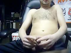 Watching porn huge cum shot...