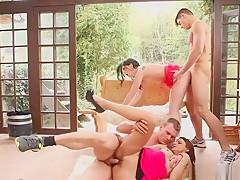 Sexy bisexuals group sex...